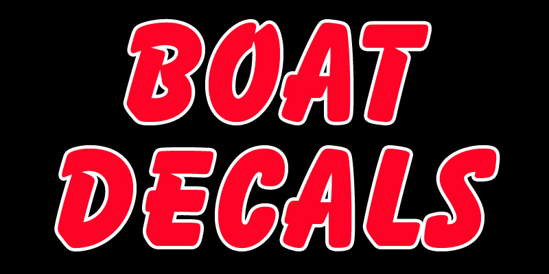 Boat Decals Boat Stickers - Boat stickers and decals