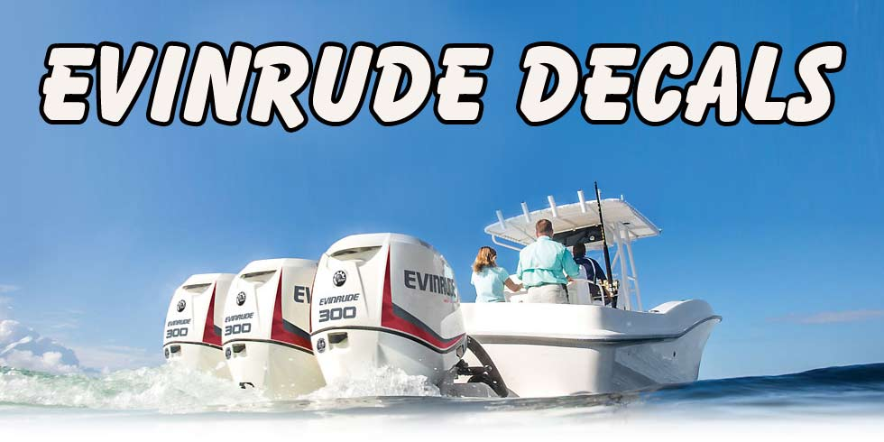 Evinrude Decals Stickers