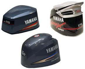 Yamaha Outboard Cowling Decals